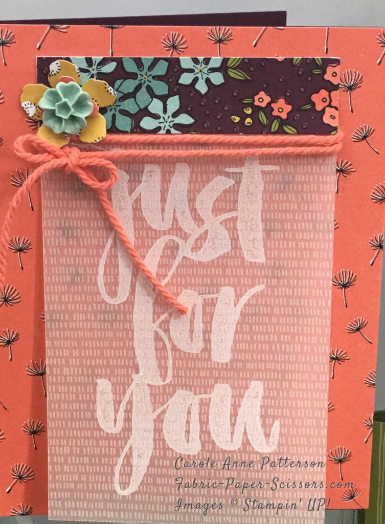 Calypso Coral DSP on Blackberry Bliss Cardstock