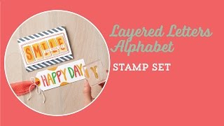 New Layered Letters Alphabet