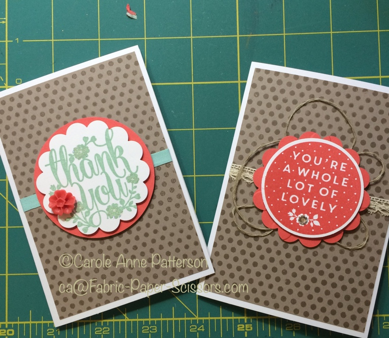 Workshop Cards – Make the thank you…