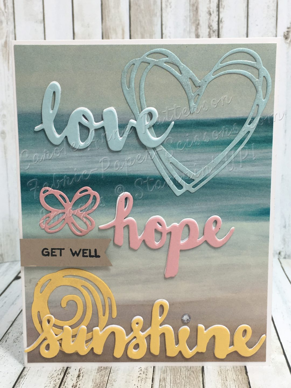 love, hope & sunshine Pals Paper Arts Challenge PPA306